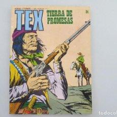 TEX Nº 84 TIERRA DE PROMESAS - 1974 - HEROES ETERNOS - SERIE AVENTURA