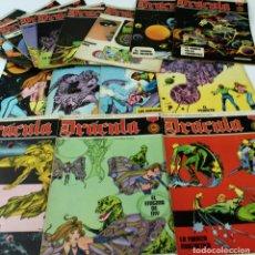 Cómics: L-231. DRACULA. LOTE DE 16 FASCICULOS SEMANALES PARA ADULTOS. BURU LAN COMICS. AÑO 1972.. Lote 70085713