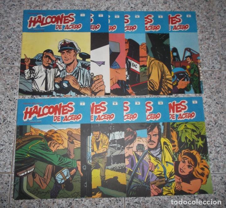 HALCONES DE ACERO - LOTE DE 11 NUMEROS - HÉROES DEL COMIC. (Tebeos y Comics - Buru-Lan - Halcones de Acero)