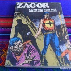 Cómics: ZAGOR Nº 61. BURU LAN 1973. 25 PTS. LA PRESA HUMANA. DIFÍCIL.. Lote 72767839