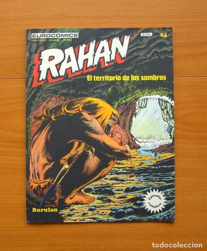 RAHAN, EL TERRITORIO DE LAS SOMBRAS Nº 24 ÚLTIMO DE LA COLECCIÓN - EDITORIAL BURU LAN, BURULAN 1974 (Tebeos y Comics - Buru-Lan - Rahan)