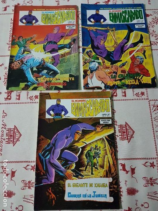 ORIGINAL EL HOMBRE ENMASCARADO VOL 2 NUMERO 1, 2 Y 4 AÑO 1979 (Tebeos y Comics - Buru-Lan - Hombre Enmascarado)