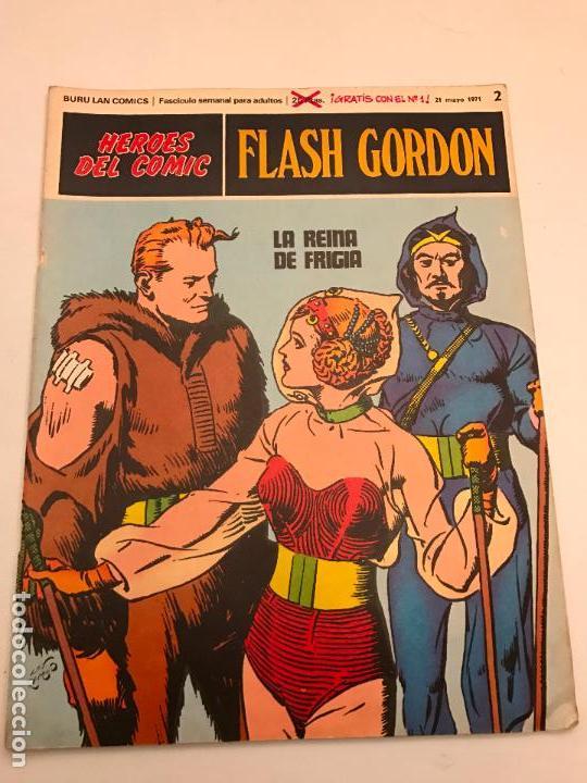 HEROES DEL COMIC FLASH GORDON Nº 2. LA REINA DE FRIGIA. BURU LAN 1971 (Tebeos y Comics - Buru-Lan - Flash Gordon)