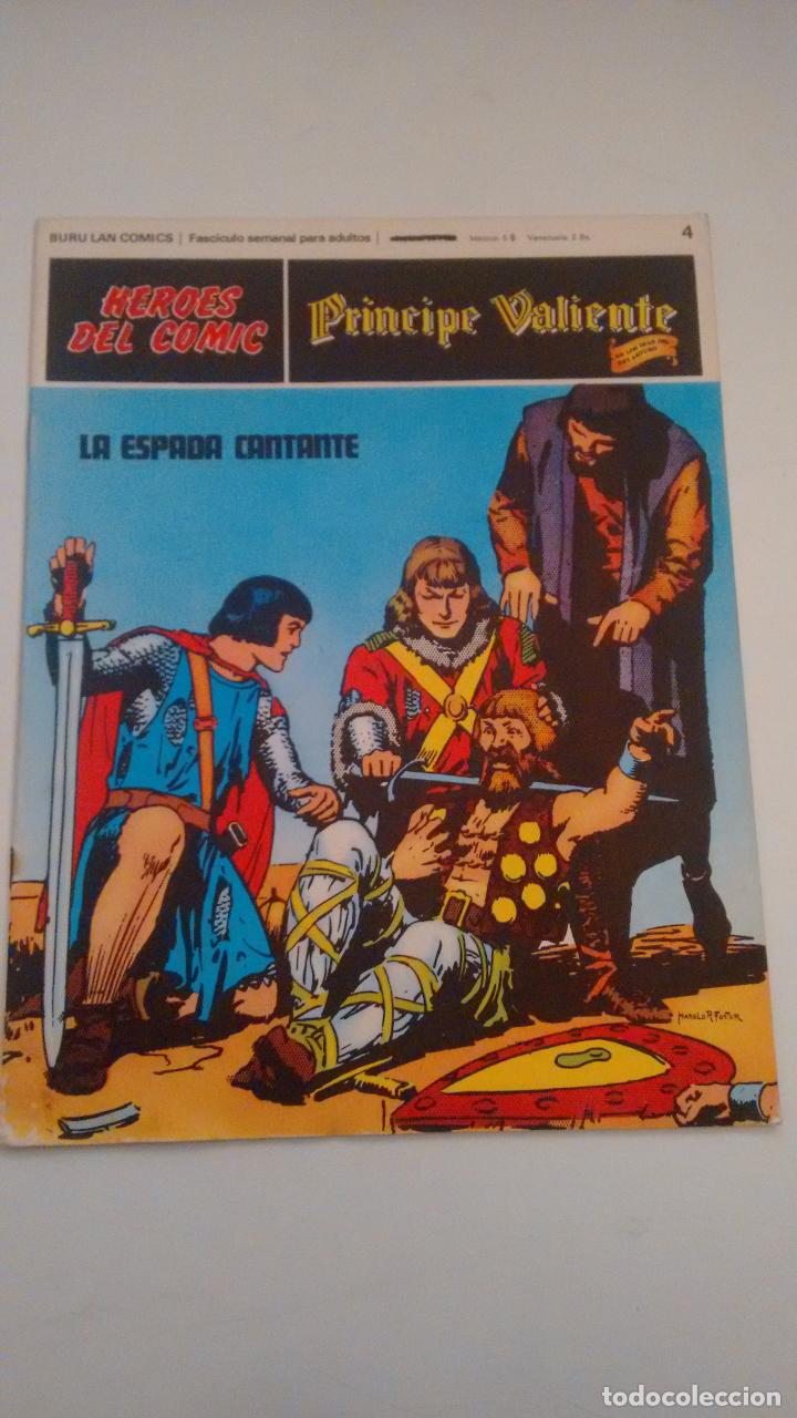 HEROES DEL COMIC PRINCIPE VALIENTE Nº 4. LA ESPADA CANTANTE. BURU LAN 1972 (Tebeos y Comics - Buru-Lan - Flash Gordon)
