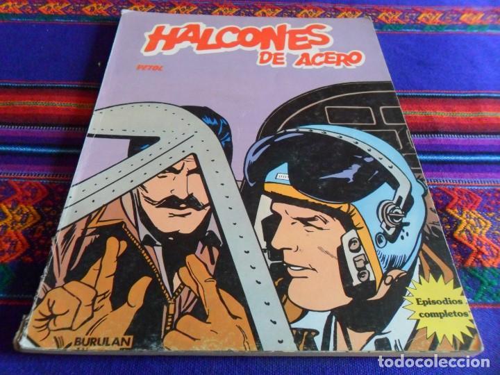 HALCONES DE ACERO RETAPADO Nº 2 VETOL. BURU LAN 1973. BUEN ESTADO. (Tebeos y Comics - Buru-Lan - Halcones de Acero)