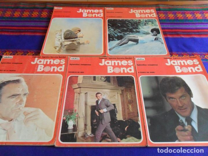 JAMES BOND RETAPADO 1 2 3 4 5 A TRAVÉS DEL MURO SOMBRAS DE ORO EL RÍO LA MUERTE OCTÓPODO ASESINO.... (Tebeos y Comics - Buru-Lan - James Bond)