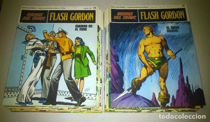 FLASH GORDON - HEROES DEL COMIC - LOTE 23 EJEMPLARES EN FABULOSO ESTADO - 1ª EDICIÓN (Tebeos y Comics - Buru-Lan - Flash Gordon)