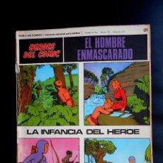 Cómics: EL HOMBRE ENMASCARADO HEROES DEL COMIC BURU LAN COMICS 01 LA INFANCIA DEL HEROE. Lote 80590178