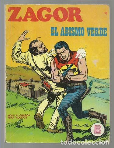 ZAGOR 18: EL ABISMO VERDE, 1972, BUEN ESTADO. (Tebeos y Comics - Buru-Lan - Zagor)