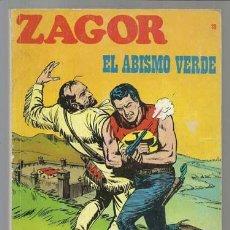 Cómics: ZAGOR 18: EL ABISMO VERDE, 1972, BUEN ESTADO.. Lote 81109808