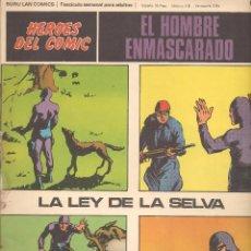 Fumetti: HÉROES DEL COMIC. EL HOMBRE ENMASCARADO. Nº 010. BURU LAN. 1972.(RF.MA) C/38. Lote 152943382