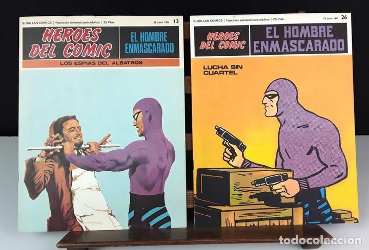 Cómics: HEROES DEL COMIC. EL HOMBRE ENMASCARADO. 18 EJEM(VER DESCRIP). EDIC. BURULAN. 1971/72. - Foto 4 - 83992260