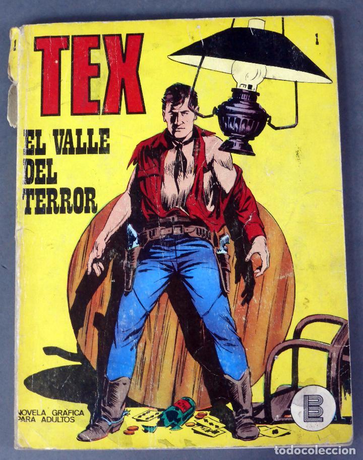 TEX Nº 1 EL VALLE DEL TERROR BURULAN BURU LAN NOVELA GRÁFICA ADULTOS 1971 (Tebeos y Comics - Buru-Lan - Tex)