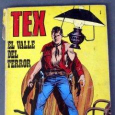 Cómics: TEX Nº 1 EL VALLE DEL TERROR BURULAN BURU LAN NOVELA GRÁFICA ADULTOS 1971. Lote 84721704