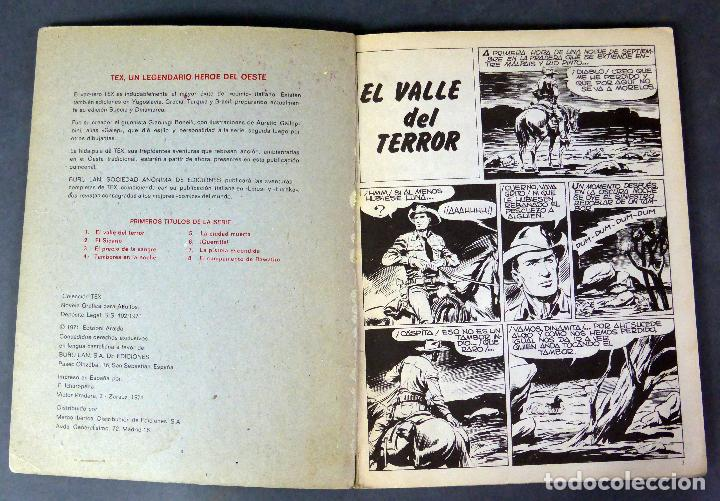 Cómics: Tex nº 1 El valle del terror Burulan Buru Lan Novela Gráfica Adultos 1971 - Foto 2 - 84721704