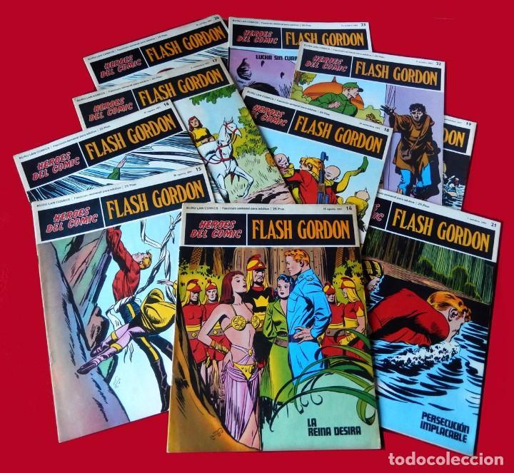 FLASH GORDON, LOTE DE 10 FASCÍCULOS PERTENECIENTES AL TOMO 2, 1971 - BURU-LAN - BUEN ESTADO. (Tebeos y Comics - Buru-Lan - Flash Gordon)