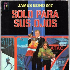 Cómics: JAMES BOND 007. SOLO PARA SUS OJOS. EDICIONES RECREATIVAS. CINE COMIC Nº1. . Lote 86351208