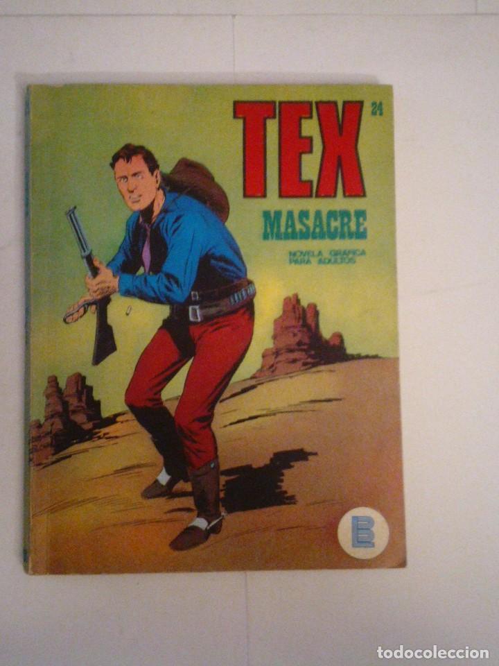 TEX - BURU LAN - NUMERO 2 4 - MASACRE - BUEN ESTADO - CJ 105 - GORBAUD (Tebeos y Comics - Buru-Lan - Tex)