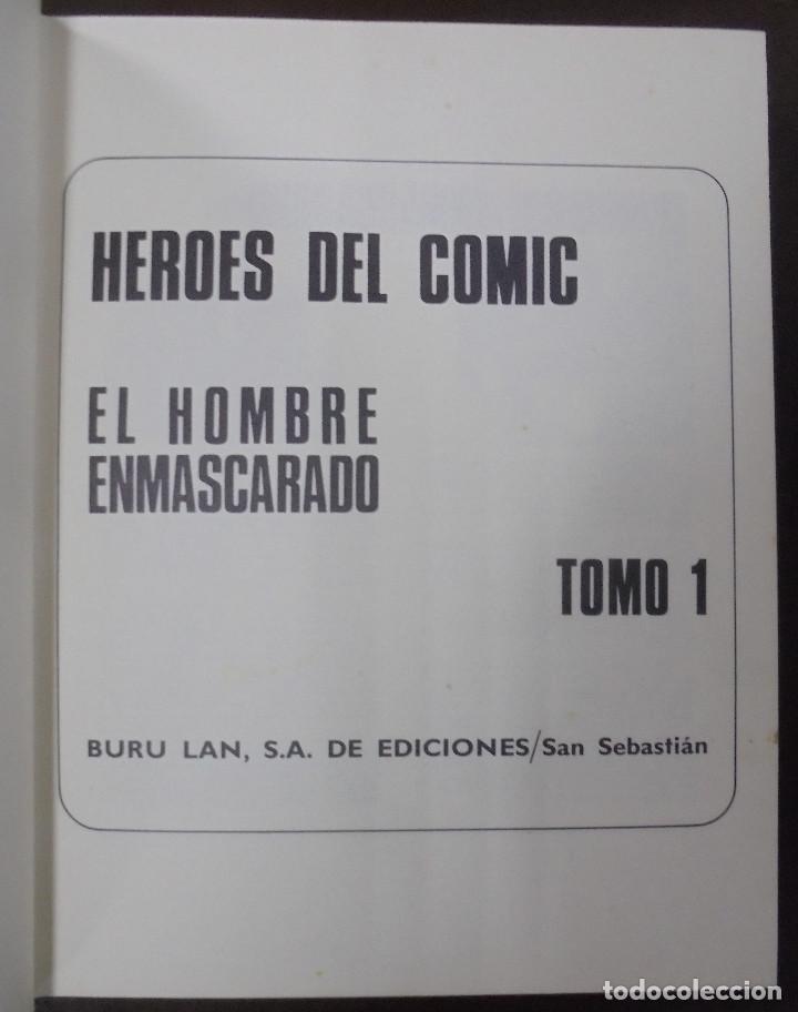 Cómics: EL HOMBRE ENMASCARADO. AFRONTANDO EL PELIGRO. TOMO I. BURU LAN EDICIONES. 12 EPISODIOS. 1971. - Foto 2 - 116791575