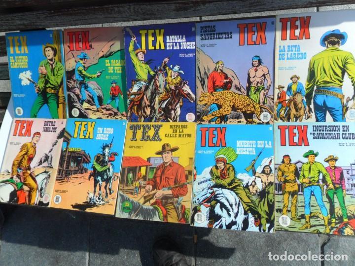 TEX NºS 15 16 34 35 37 38 45 46 56. BURU LAN 1972. SUELTOS. REGALO 3 ITALIANOS Y 2 DE ZINCO. (Tebeos y Comics - Buru-Lan - Tex)