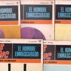Cómics: EL HOMBRE ENMASCARADO BURULAN 1971 - LOTE 5 NºS - 2,3,11,15,17. Lote 89394172