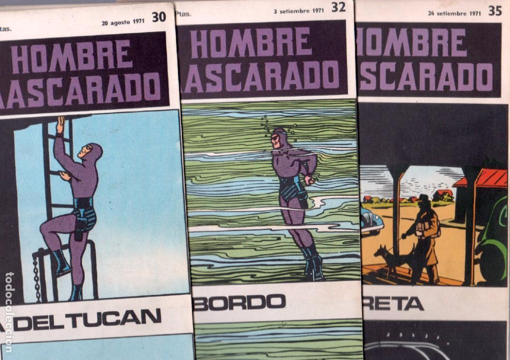EL HOMBRE ENMASCARADO BURULAN 23 NºS- 2,3,5,6,7,8,9,10,11,13,14,15,16,17,18,20,21,22,26,29,30,32,35 (Tebeos y Comics - Buru-Lan - Hombre Enmascarado)