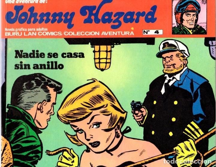 JOHNNY HAZARD. NADIE SE CASA SIN ANILLO. COLECCION AVENTURA. Nº 4. BURU LAN. AÑO 1973 (Tebeos y Comics - Buru-Lan - Otros)