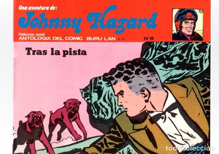 JOHNNY HAZARD. TRAS LA PISTA. COLECCION AVENTURA. Nº 8. BURU LAN. AÑO 1973 (Tebeos y Comics - Buru-Lan - Otros)