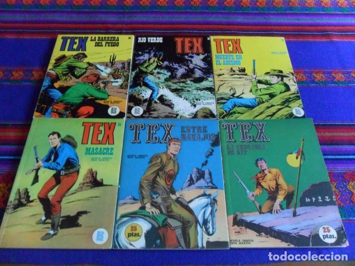 TEX NºS 9, 12, 24, 47, 51 Y 64. BURU LAN 1971. 25 PTS. PRIMERA EDICIÓN Y BUEN ESTADO. (Tebeos y Comics - Buru-Lan - Tex)