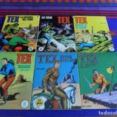 Cómics: TEX NºS 9, 12, 24, 47, 51 Y 64. BURU LAN 1971. 25 PTS. PRIMERA EDICIÓN Y BUEN ESTADO.. Lote 89992480