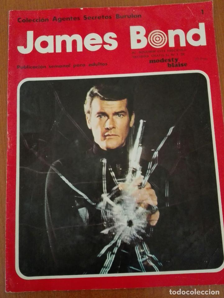 JAMES BOND,Nº1. COLECCION AGENTES SECRETOS BURULAN, 1974 (Tebeos y Comics - Buru-Lan - James Bond)