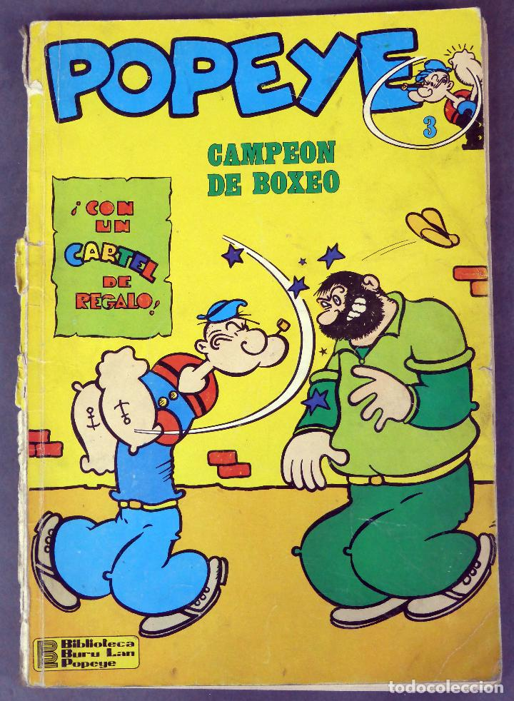 POPEYE Nº 3 ED BURU LAN BURULAN 1970 CAMPEÓN DE BOXEO (Tebeos y Comics - Buru-Lan - Popeye)