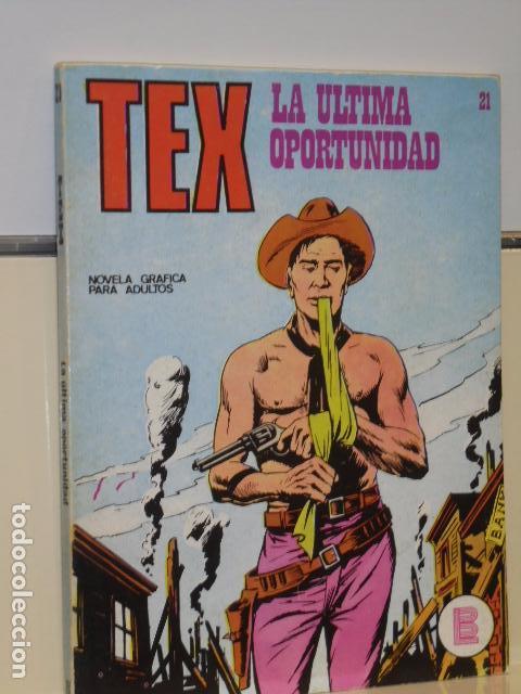 TEX Nº 21 LA ULTIMA OPORTUNIDAD - BURU LAN - (Tebeos y Comics - Buru-Lan - Tex)