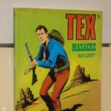Cómics: TEX Nº 24 MASACRE - BURU LAN -. Lote 91005300