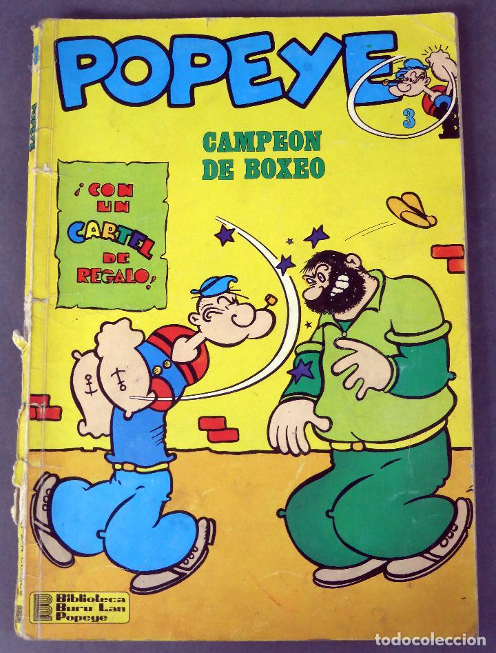 Cómics: Popeye nº 3 Ed Buru Lan Burulan 1970 Campeón de boxeo - Foto 3 - 90976850