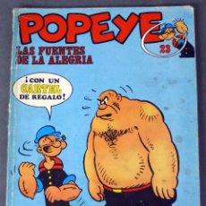 Cómics: POPEYE Nº 23 ED BURU LAN BURULAN 1972 LAS FUENTES DE LA ALEGRÍA. Lote 91092835