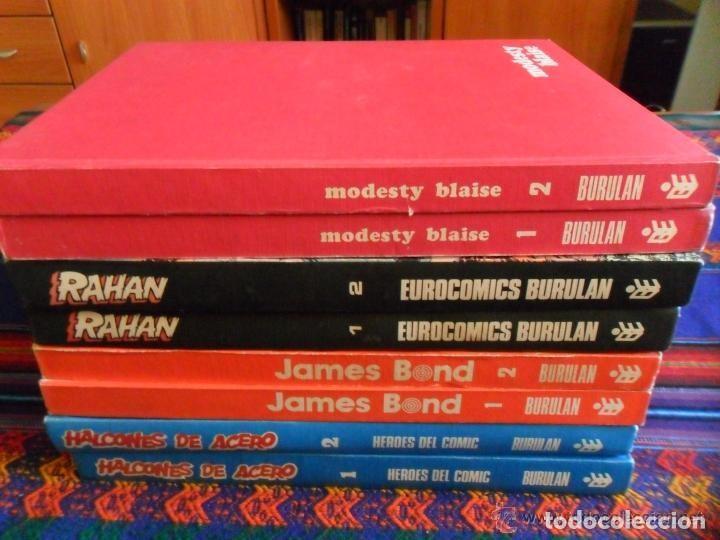 MODESTY BLAISE COMPLETA EN 2 TOMOS EN MUY BUEN ESTADO. BURU LAN 1973. (Tebeos y Comics - Buru-Lan - Modesty Blaise)