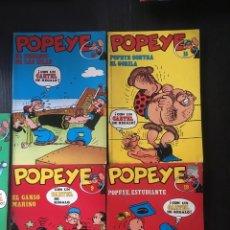 Cómics: LOTE 5 POPEYE EDICIONES BURU LAN 1972 NUMEROS 9,10,15,19,21. Lote 91957844