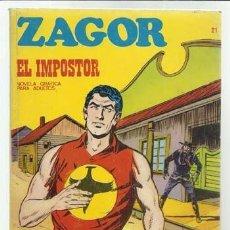 Cómics: ZAGOR 21: EL IMPOSTOR, 1972, MUY BUEN ESTADO. Lote 92094355