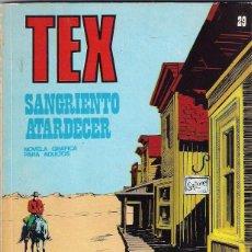 Cómics: TEX. Nº 29. SANGRIENTO ATARDECER.. Lote 92131880