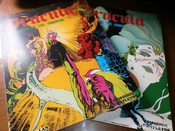 DRÁCULA - EL SENDERO DE LOS MUERTOS /LA MUJER DE LOS LOBOS - ESTEBAN MAROTO - BURU LAN ED., 1974. (Tebeos y Comics - Buru-Lan - Drácula)