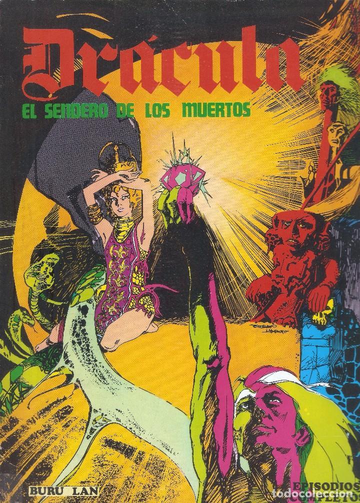 Cómics: DRÁCULA - EL SENDERO DE LOS MUERTOS /LA MUJER DE LOS LOBOS - ESTEBAN MAROTO - BURU LAN ED., 1974. - Foto 2 - 92737990