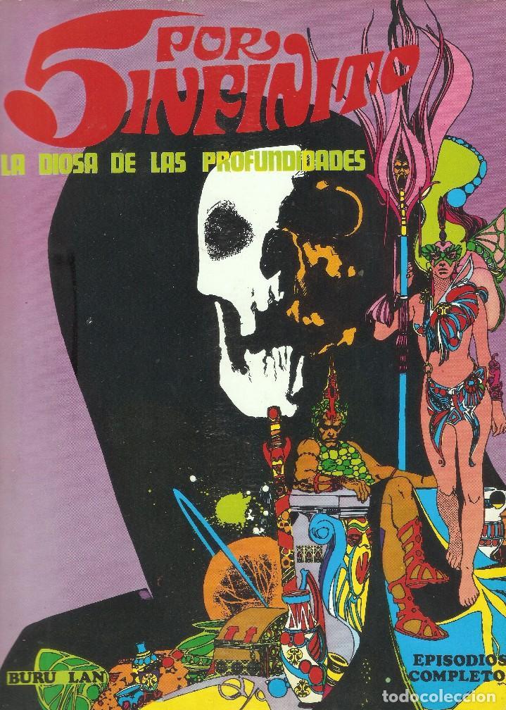 5 POR INFINITO - LA DIOSA DE LAS PROFUNDIDADES - ESTEBAN MAROTO - BURU LAN ED., 1974. (Tebeos y Comics - Buru-Lan - Drácula)