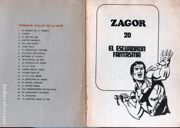 Cómics: ZAGOR Nº 20 EDI. BURULAN 1972 - 100 PGS. - Foto 2 - 92755505