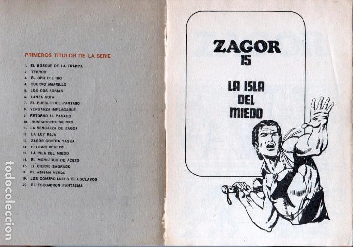 Cómics: ZAGOR Nº 15 EDI. BURULAN 1972 - 100 PGS. - Foto 2 - 92755675
