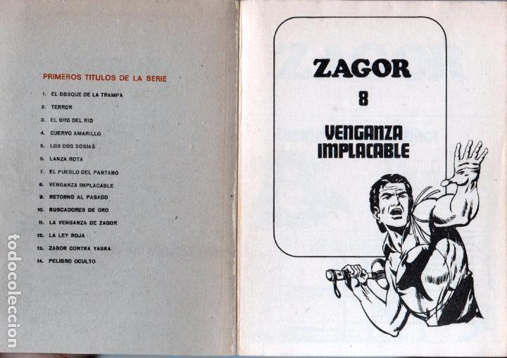 Cómics: ZAGOR Nº 8 - EDI. BURULAN 1972 - 100 PGS. - Foto 2 - 92755920