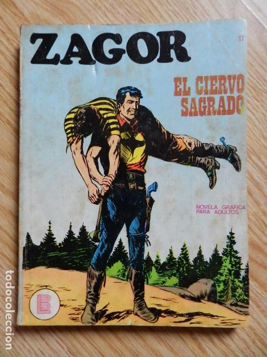 ZAGOR Nº 17 EL CIERVO SAGRADO AÑO 1972 BURU LAN EDICIONES NOVELA GRAFICA PARA ADULTOS (Tebeos y Comics - Buru-Lan - Zagor)