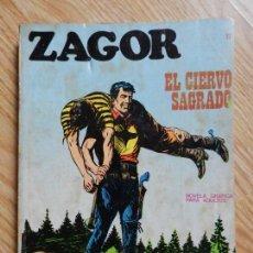 Cómics: ZAGOR Nº 17 EL CIERVO SAGRADO AÑO 1972 BURU LAN EDICIONES NOVELA GRAFICA PARA ADULTOS. Lote 94549795