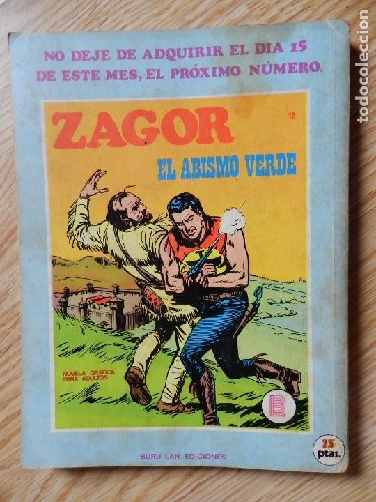 Cómics: ZAGOR Nº 17 EL CIERVO SAGRADO año 1972 BURU LAN ediciones novela grafica para adultos - Foto 3 - 94549795