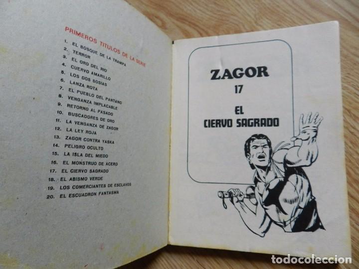 Cómics: ZAGOR Nº 17 EL CIERVO SAGRADO año 1972 BURU LAN ediciones novela grafica para adultos - Foto 4 - 94549795